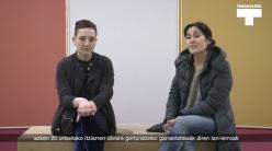 Beatriz Herráez eta Itziar Okarizi elkarrizketa