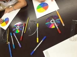 Kolore espektroa. Newtonen diska