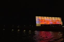 Pruebas de proyección de la instalación Crimson Waves